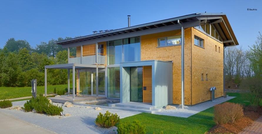Holzhäuser bei grauer Energie im grünen Bereich