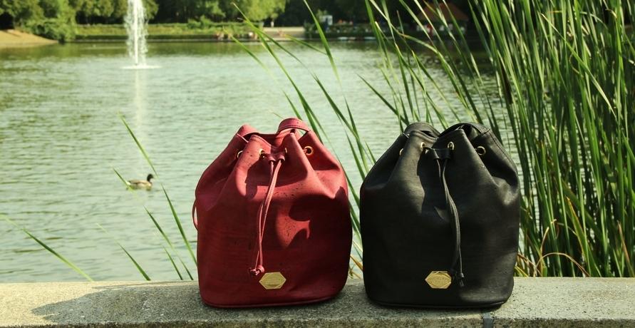 Taschen und Portemonnaies aus Kork