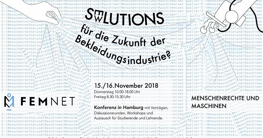 SEWlutions – die FEMNET-Konferenz 2018