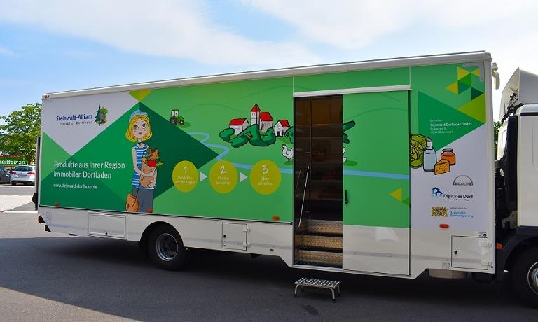 Der mobile Dorfladen- Supermarkt auf Rädern