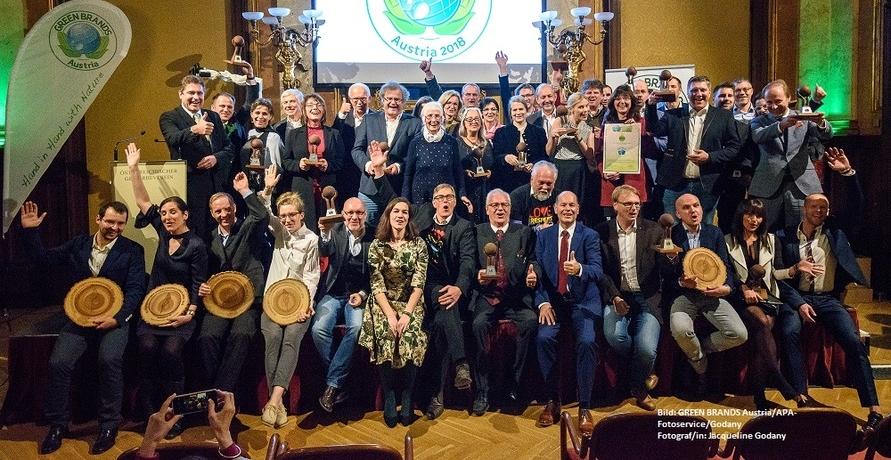 """Prof. Dr. Helga Kromp-Kolb und 34 Marken als """"GREEN BRANDS Austria 2018"""" ausgezeichnet"""