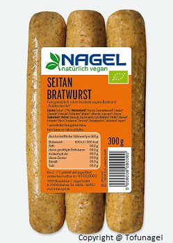 Packshot Bratwurst 300 g Seitan