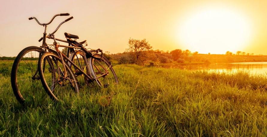 Reisen mit dem Fahrrad. Ein guter Fahrradverleih macht es einfach.