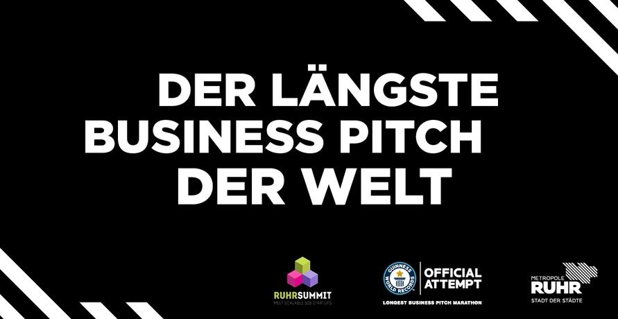 """RuhrSummit 2019: """"Der längste Business Pitch der Welt"""""""