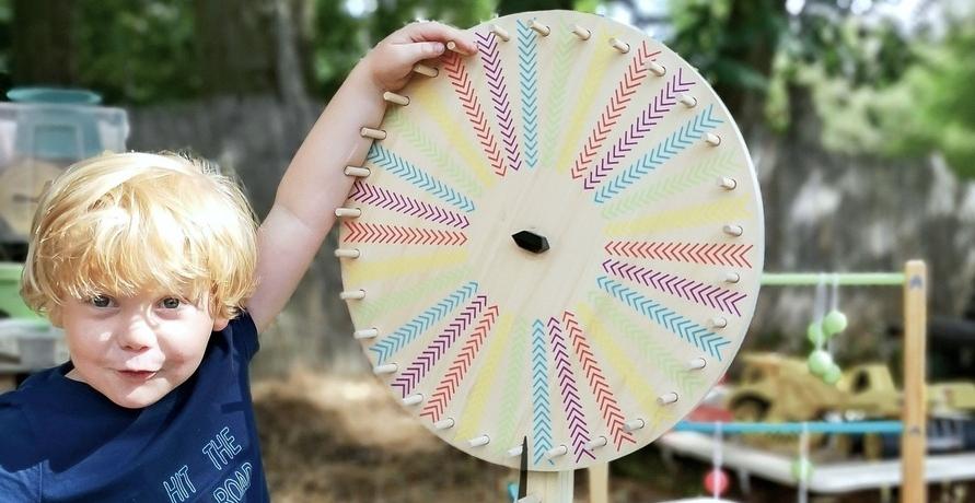 Nachhaltiges Holzspielzeug für Garten oder Park