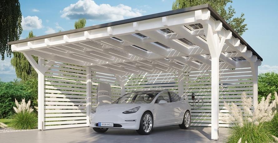 Nutze die Kraft der Sonne – mit den Solarcarports von Carportwerk