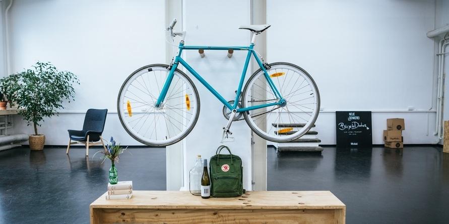 Kreativ und platzsparend: Die Fahrrad-Wandhalterungen von Bicycledudes
