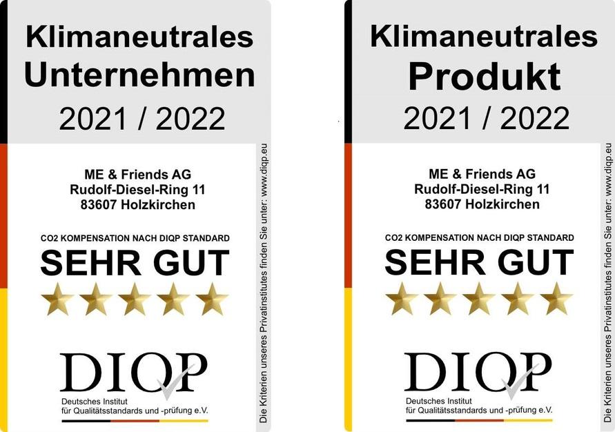 Siegel DIQP Klimaneutralität