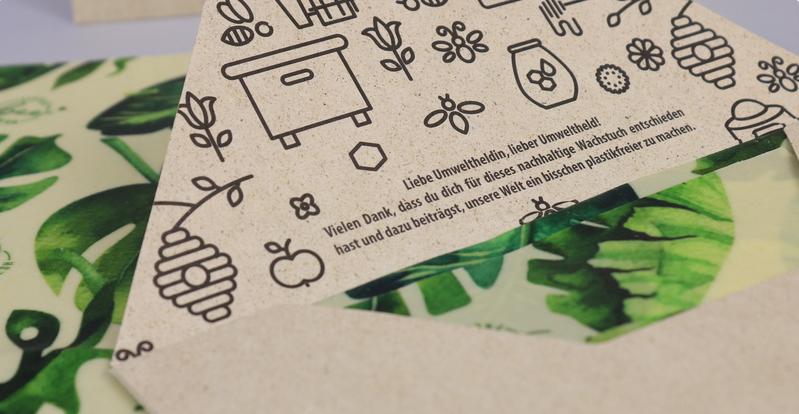 Sinnvolle Verpackungen aus Graspapier und Recyclingmaterial