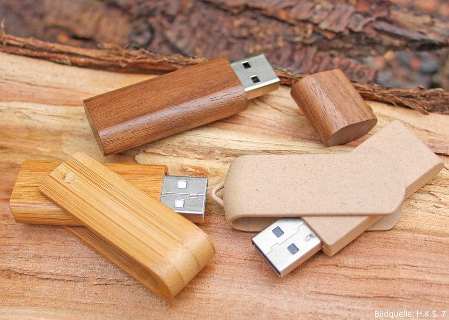USB-Sticks aus nachhaltigen Materialien