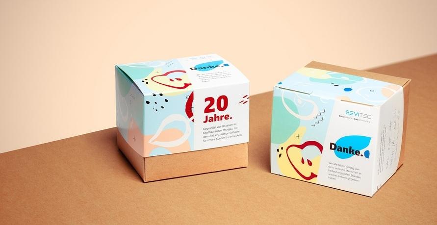 Individuelle Verpackungen aus nachhaltigem Material mit lebensmittelechter Druckfarbe