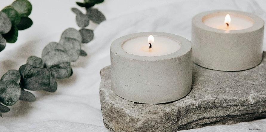 Ein Rendezvous im Kerzenschein mit Bio Kerzen von stuwa