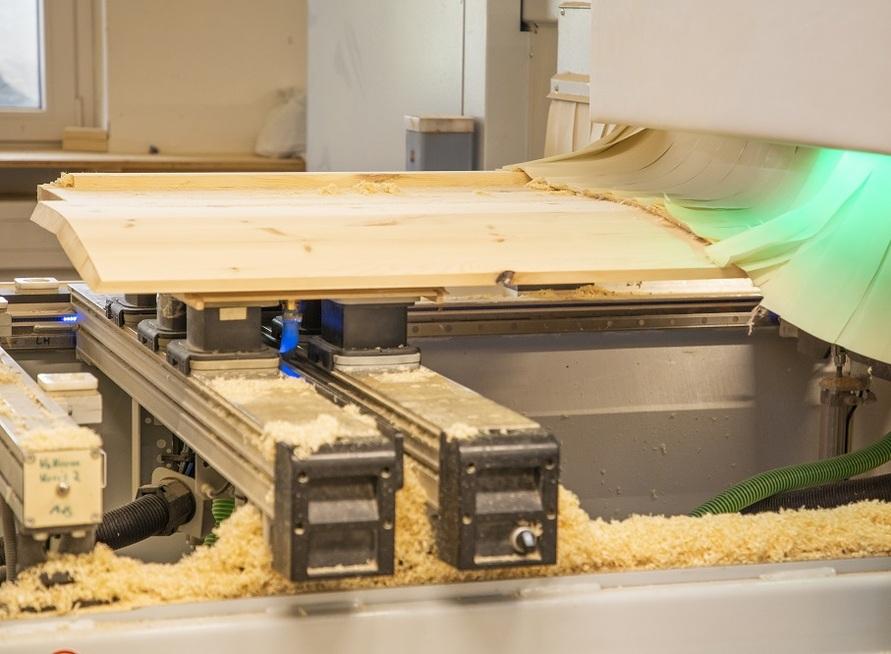 Die Produktion von den Holzbetten