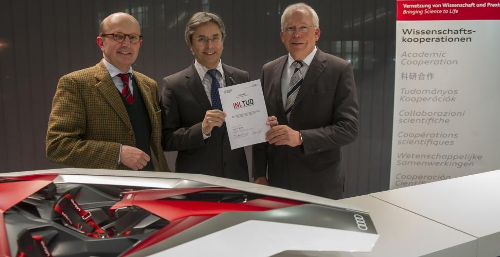Audi vereinbart strategische Kooperation mit der Technischen Universität Dresden