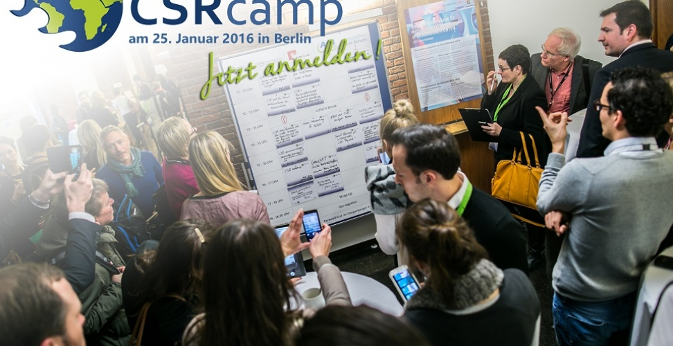 Zweites Deutsches CSRcamp am 25.01.2016 in Berlin
